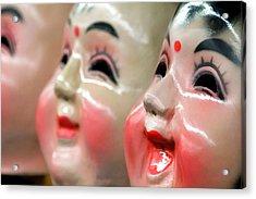 Chinese Masks Acrylic Print