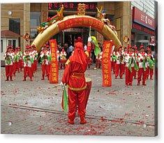 Chinese Wedding Celebration Acrylic Print by Alfred Ng