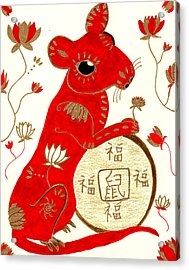 Chinese Year Of The Rat Acrylic Print