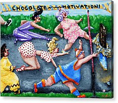 Chocolate Motivation Acrylic Print by Alison  Galvan