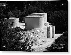 Choirokoitia Ancient Neolithic Village Settlement Republic Of Cyprus Acrylic Print by Joe Fox