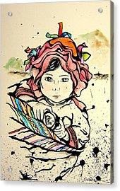 Cholita En Hombros Acrylic Print