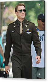 Chris Evans On Location For The Acrylic Print by Everett