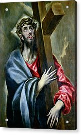 Christ Clasping The Cross Acrylic Print