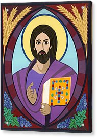 Christ Pantokrator Icon Acrylic Print by David Raber