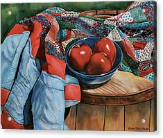 Christa's Quilt Acrylic Print by Susan Elise Shiebler