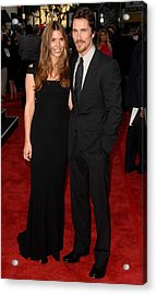 Christian Bale At Arrivals For 2009 Los Acrylic Print by Everett