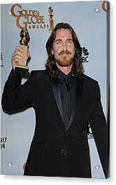 Christian Bale In The Press Room Acrylic Print by Everett