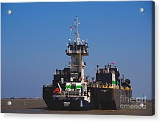 Christiana Oil Tanker Sitting In Galveston Tx Acrylic Print by Susanne Van Hulst
