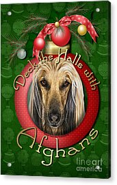 Christmas - Deck The Halls With Afghans Acrylic Print by Renae Laughner