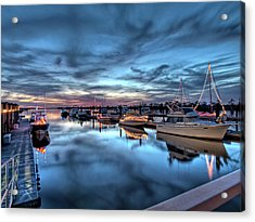 Christmas At The Marina Acrylic Print