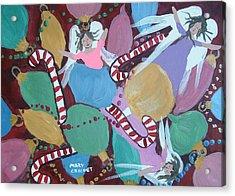 Christmas Bulbs Acrylic Print by Mary Crochet