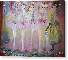 Christmas Eve Fairies Acrylic Print by Judith Desrosiers