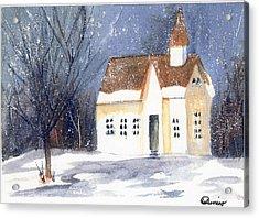 Christmas Eve Acrylic Print by Wendy Cunico