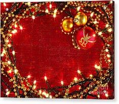 Christmas Frame Acrylic Print by Carlos Caetano