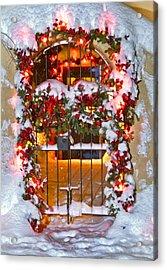Christmas Gate Acrylic Print
