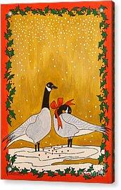 Christmas Geese Acrylic Print