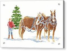 Christmas Horses Acrylic Print