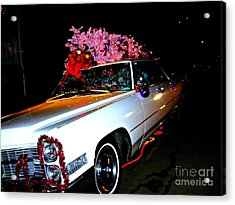Acrylic Print featuring the photograph Christmas In The City  by Nancy Dole McGuigan