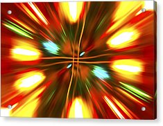 Acrylic Print featuring the photograph Christmas Light Abstract by Steve Purnell