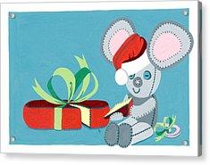 Christmas Mouse Acrylic Print