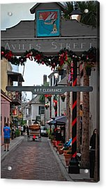 Christmas On Aviles Street Acrylic Print by DigiArt Diaries by Vicky B Fuller