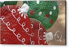 Acrylic Print featuring the photograph Christmas Ornaments by Patrice Zinck