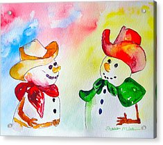 Acrylic Print featuring the painting Christmas Partners by Sharon Mick