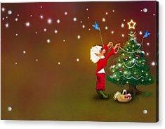 Christmas Pixie Acrylic Print