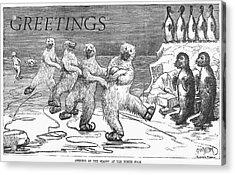 Christmas: Polar Bears Acrylic Print by Granger