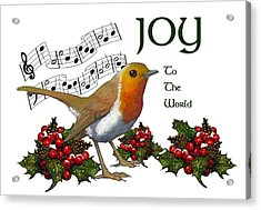 Christmas Robin Acrylic Print by Joyce Geleynse