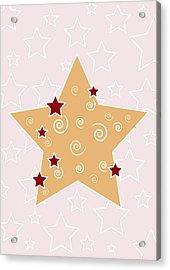 Christmas Star Acrylic Print by Frank Tschakert