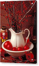 Christmas Still Life Acrylic Print by Garry Gay