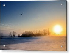 Christmas Sunset Acrylic Print by Pierre Hanquin Photographie