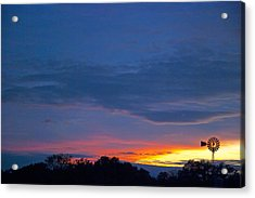 Christmas Sunset Acrylic Print