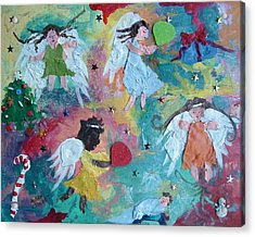 Christmas Surprise Acrylic Print by Mary Crochet