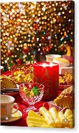 Christmas Table Set Acrylic Print