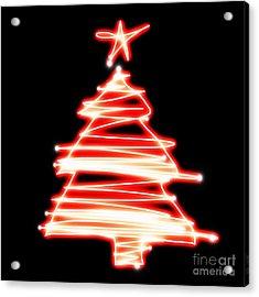 Christmas Tree Lighting Acrylic Print by Setsiri Silapasuwanchai