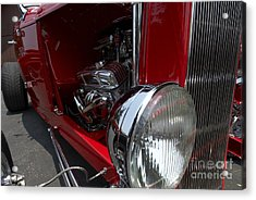 Chrome Engine Vintage Car Acrylic Print