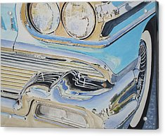 Chrome  Ode To An Olds Acrylic Print by Patrick DuMouchel