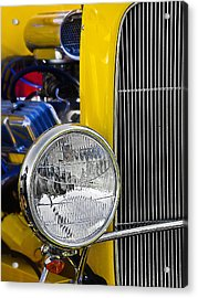 Acrylic Print featuring the photograph Chrome Yellow 01 by Kevin Chippindall