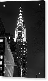 Acrylic Print featuring the photograph Chrysler Building by Michael Dorn