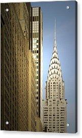 Chrysler Building Nyc - Streamlined Majesty Acrylic Print by Christine Till