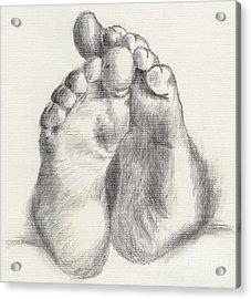 Chubby Feet Acrylic Print by Annemeet Hasidi- van der Leij