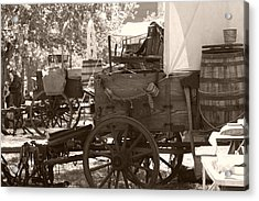 Chuckwagon Acrylic Print by Toni Hopper