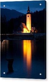 Church At Dusk Acrylic Print by Ian Middleton