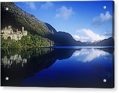 Church At The Waterfront, Kylemore Acrylic Print by The Irish Image Collection