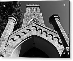 Church Facade In Black And White Acrylic Print