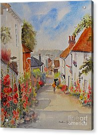 Acrylic Print featuring the painting Church Hill - Hythe- Uk by Beatrice Cloake