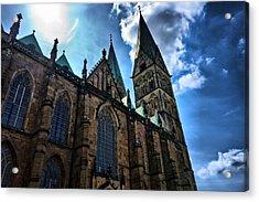 Church In Bremen Acrylic Print by Edward Myers